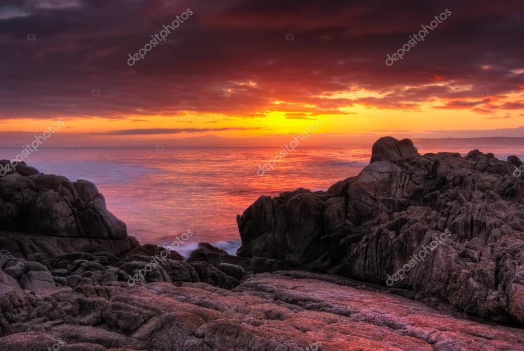 Beautiful Red Monterey Sunrise