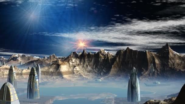 Capítulo 04: Rápidos como un relámpago y tranquilos como el cielo [AC] [FIN] Depositphotos_20092403-stock-video-fantastic-alien-city-and-ufo