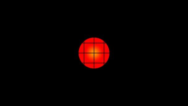 Piros kör a rács mögött