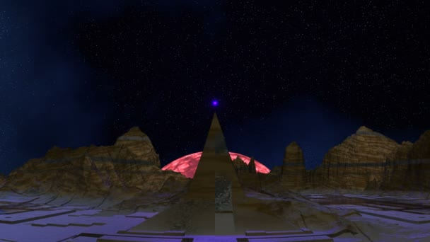 A lét egy piramis leveszi ragyogott gömb (Ufo)