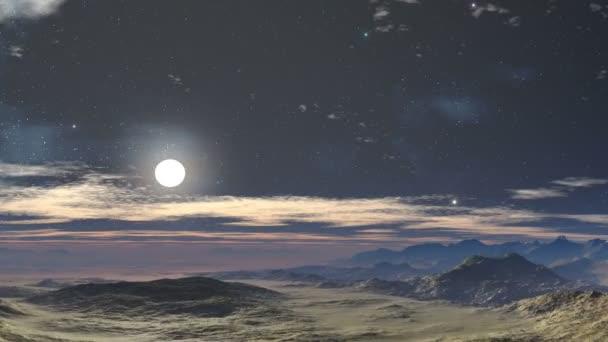 Moonlit night in the desert
