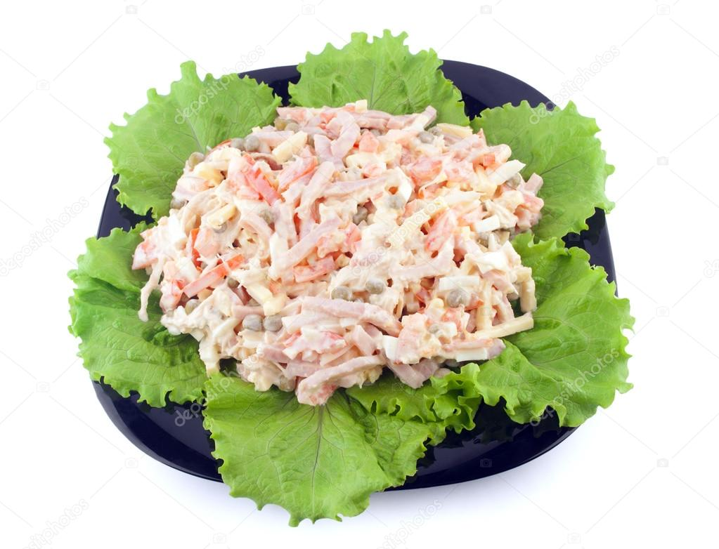 fresh salad with mayonnaise