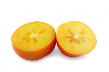 sharon fruit on white background