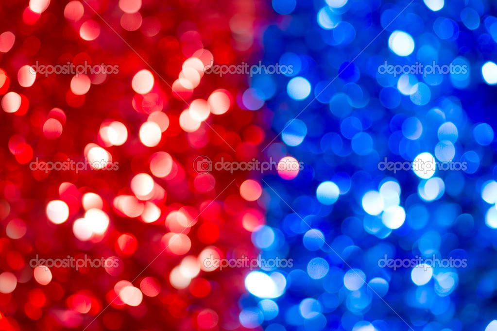 Color De Luces Borrosas Bokeh. Resumen De Rojo Y Azul
