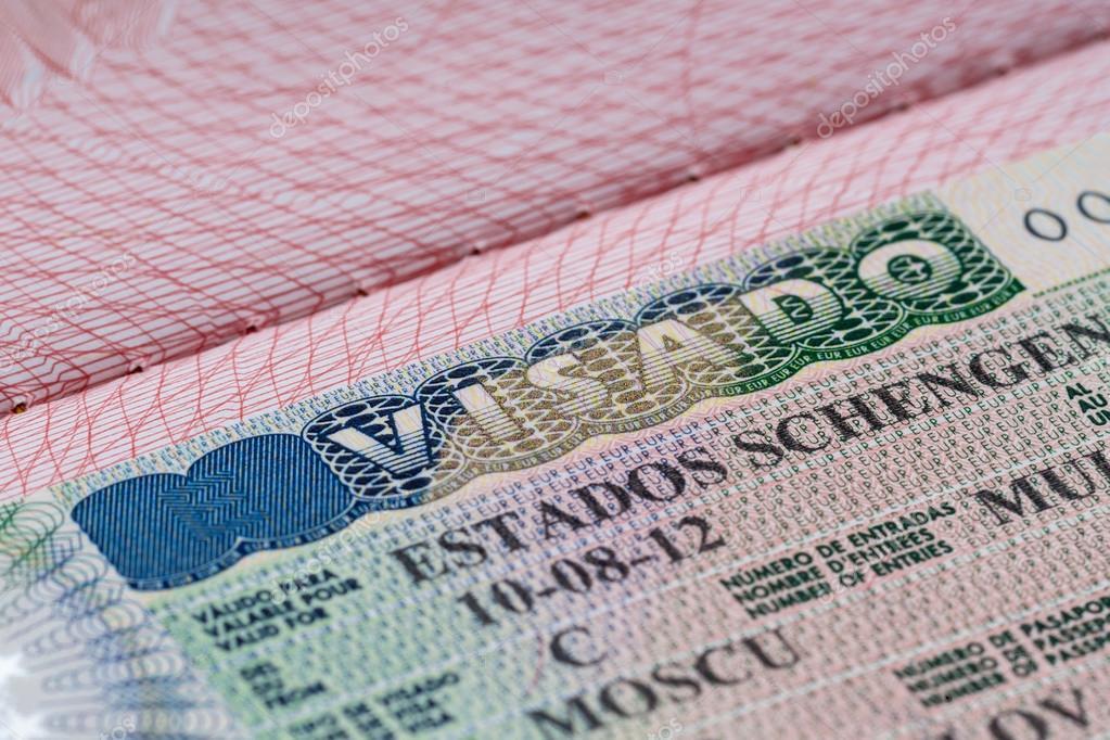 Schuss Paar Passes Mit Schengen Visum U2014 Foto Von Gawriloff