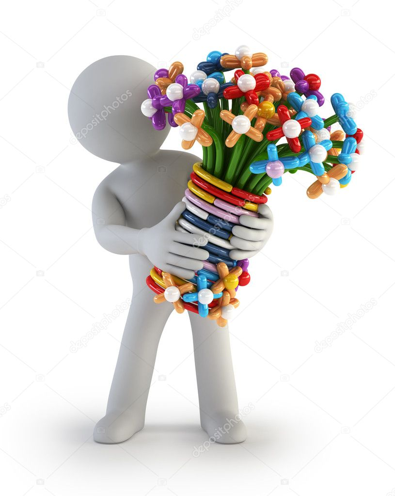 3d Small Balloon Flower Stock Photo Art3d 21442717
