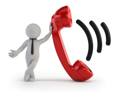 3d small - Telephone receiver