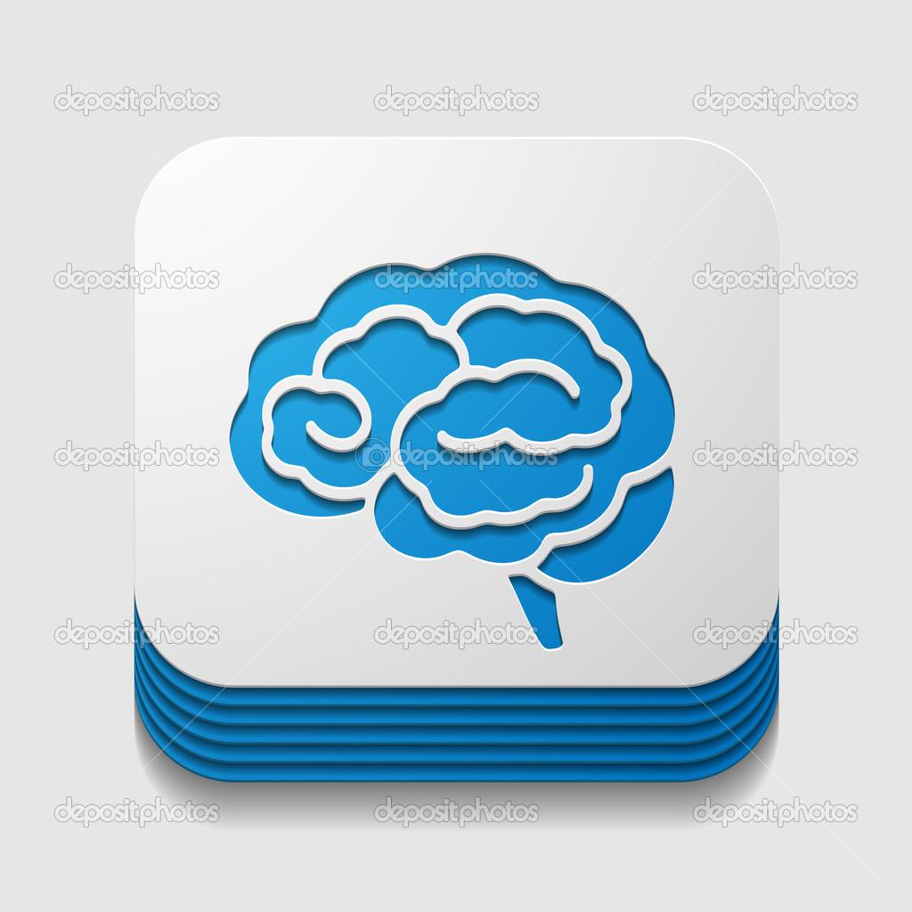 app symbol gehirn stockvektor palau83 38157419. Black Bedroom Furniture Sets. Home Design Ideas