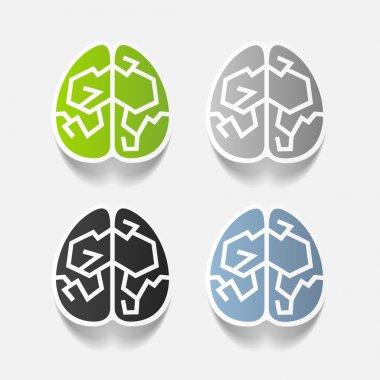 realistic design element: brain
