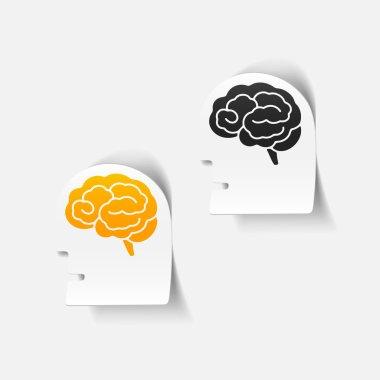 realistic design element: head face brain