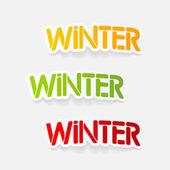 Realistický grafický prvek: zimní
