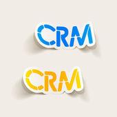 Realistický grafický prvek: crm