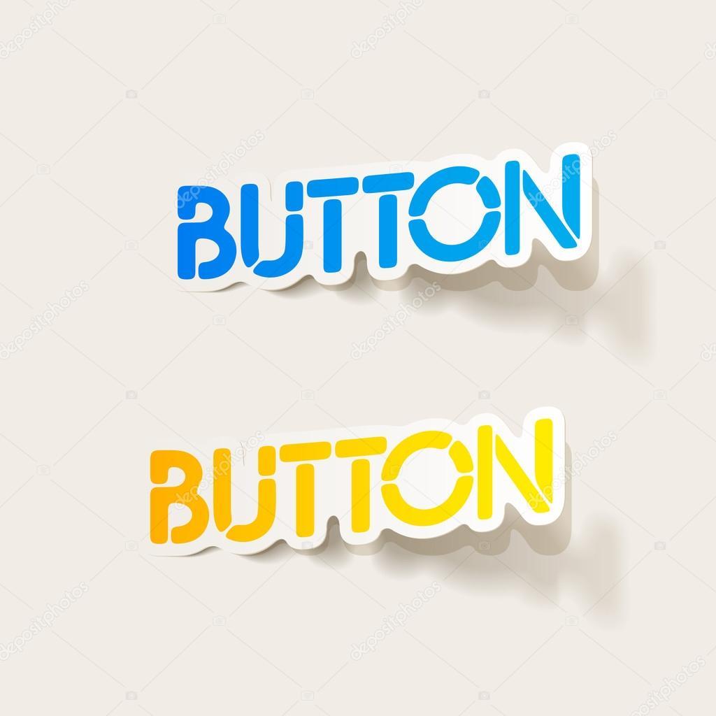 realistic design element: button