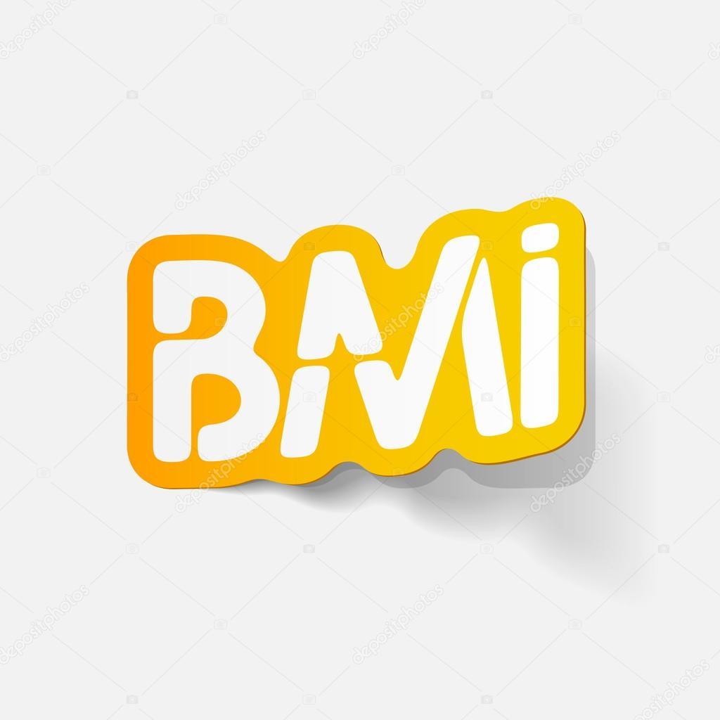 elemento de diseño realista: IMC — Vector de stock © Palau83 #43237303