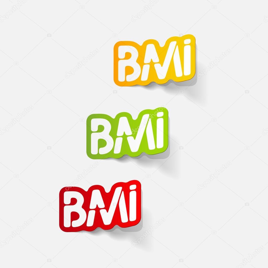 elemento de diseño realista: IMC — Vector de stock © Palau83 #43237357