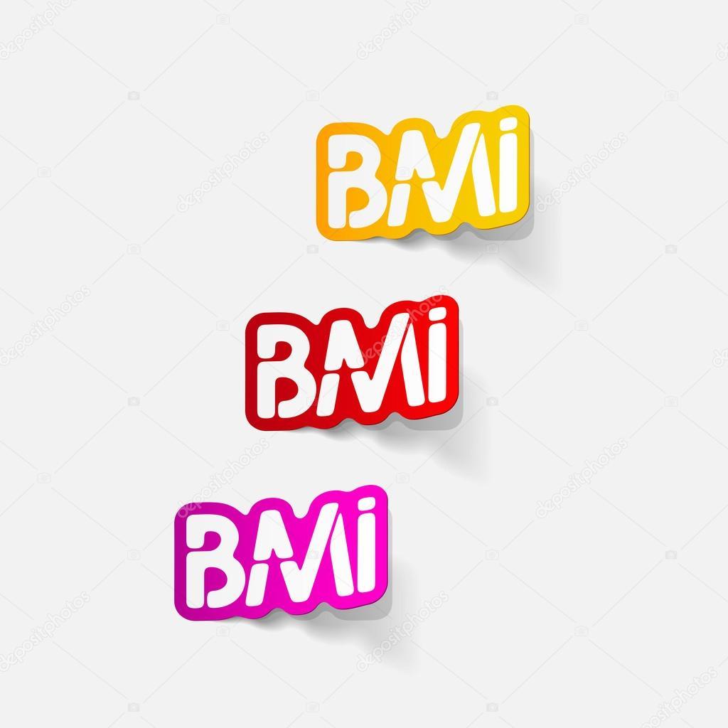 elemento de diseño realista: IMC — Vector de stock © Palau83 #43237379