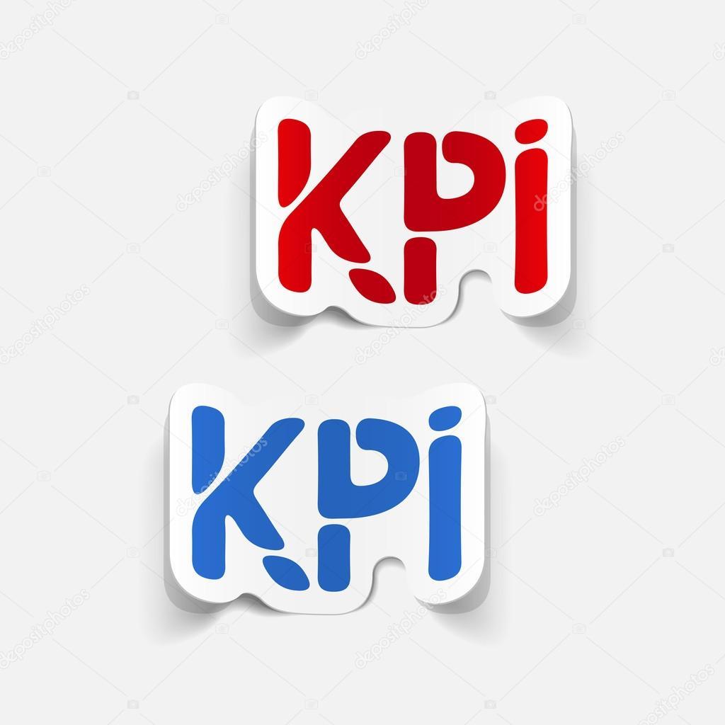 elemento de diseño realista: kpi — Archivo Imágenes Vectoriales ...