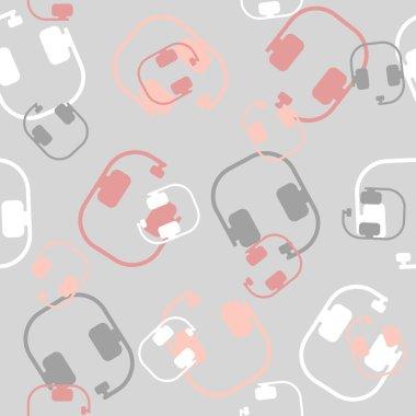 seamless background: headphones