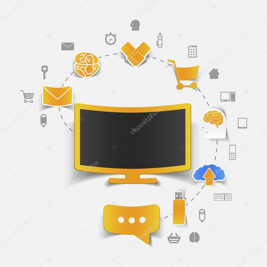 Set of sticker design online shopping concept stock vector