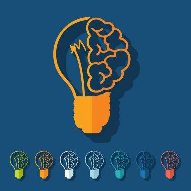 Flat design: lightbulb