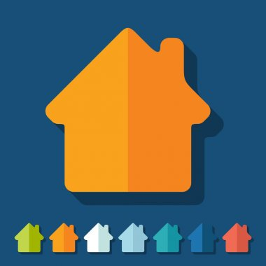 Flat design: house