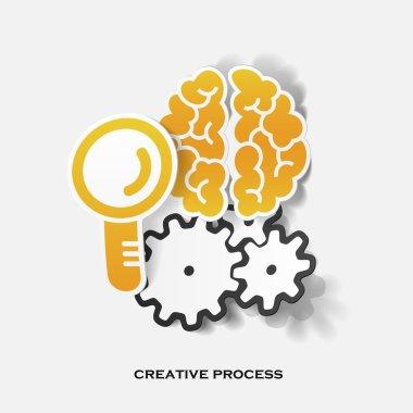 Set of sticker design. Creative process