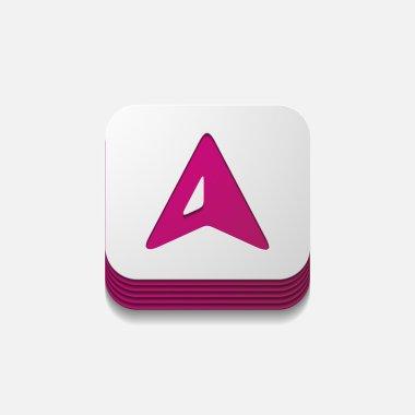 square button: gps