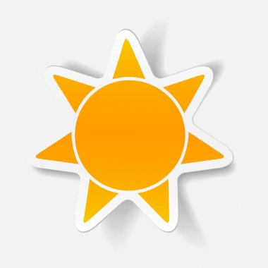 realistic design element: sun