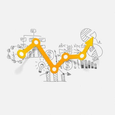 Drawing business formulas: chart stock vector