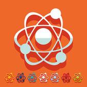 Photo Flat design: atom
