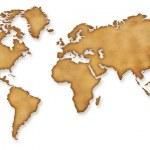 Всемирная карта Vintage сепия иллюстрации — стоковое ф&#x43