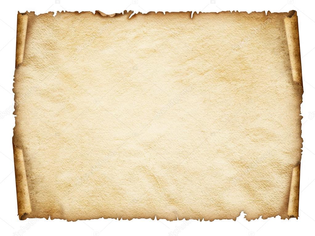 Scroll Old Paper Sheet, Vintage Aged Old Paper.