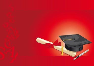 university degree college greeting card