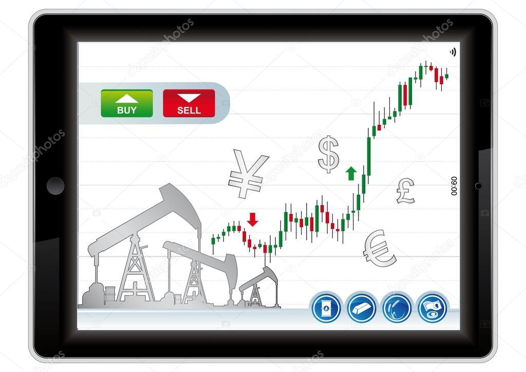 Application de trading sur le marché des actions