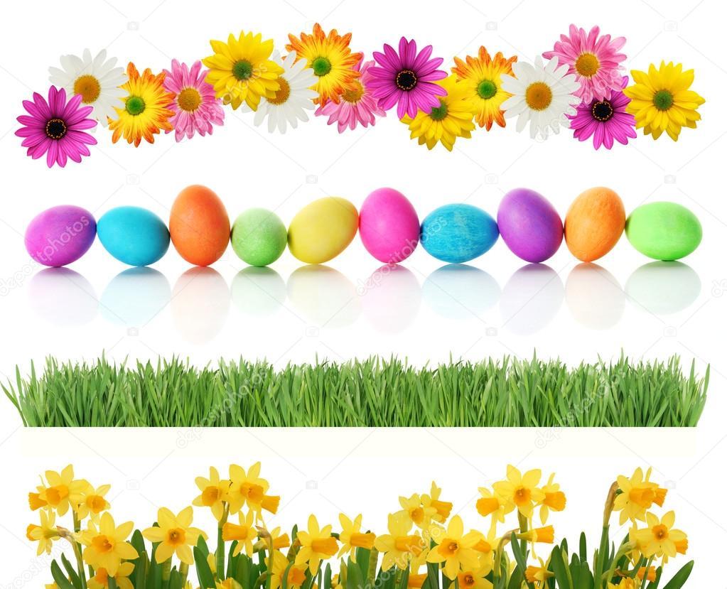 Spring Easter borders — Stock Photo © beatabecla #19198343