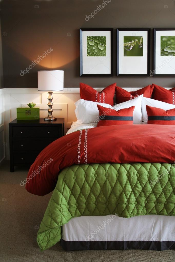 trendy slaapkamer stockfoto beatabecla