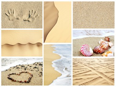 Summer sand collage