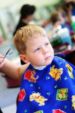 Child at the hairdresser