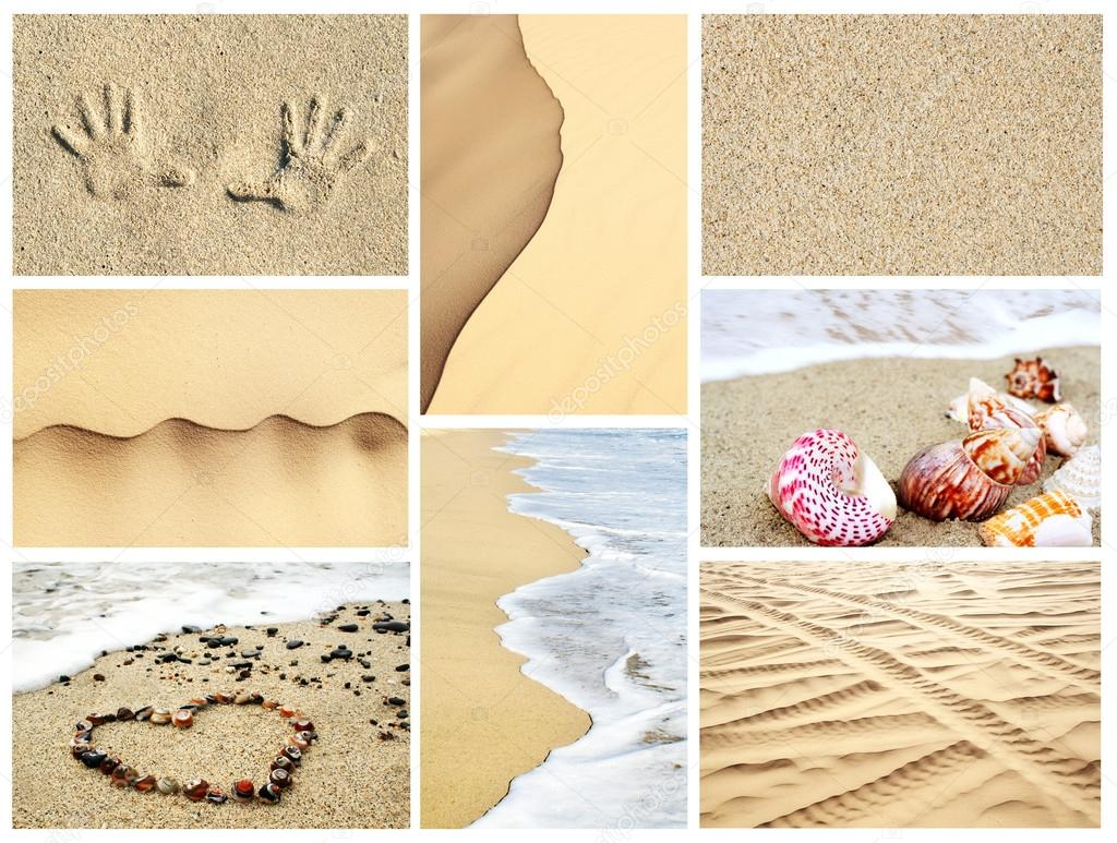 Summer sand collage