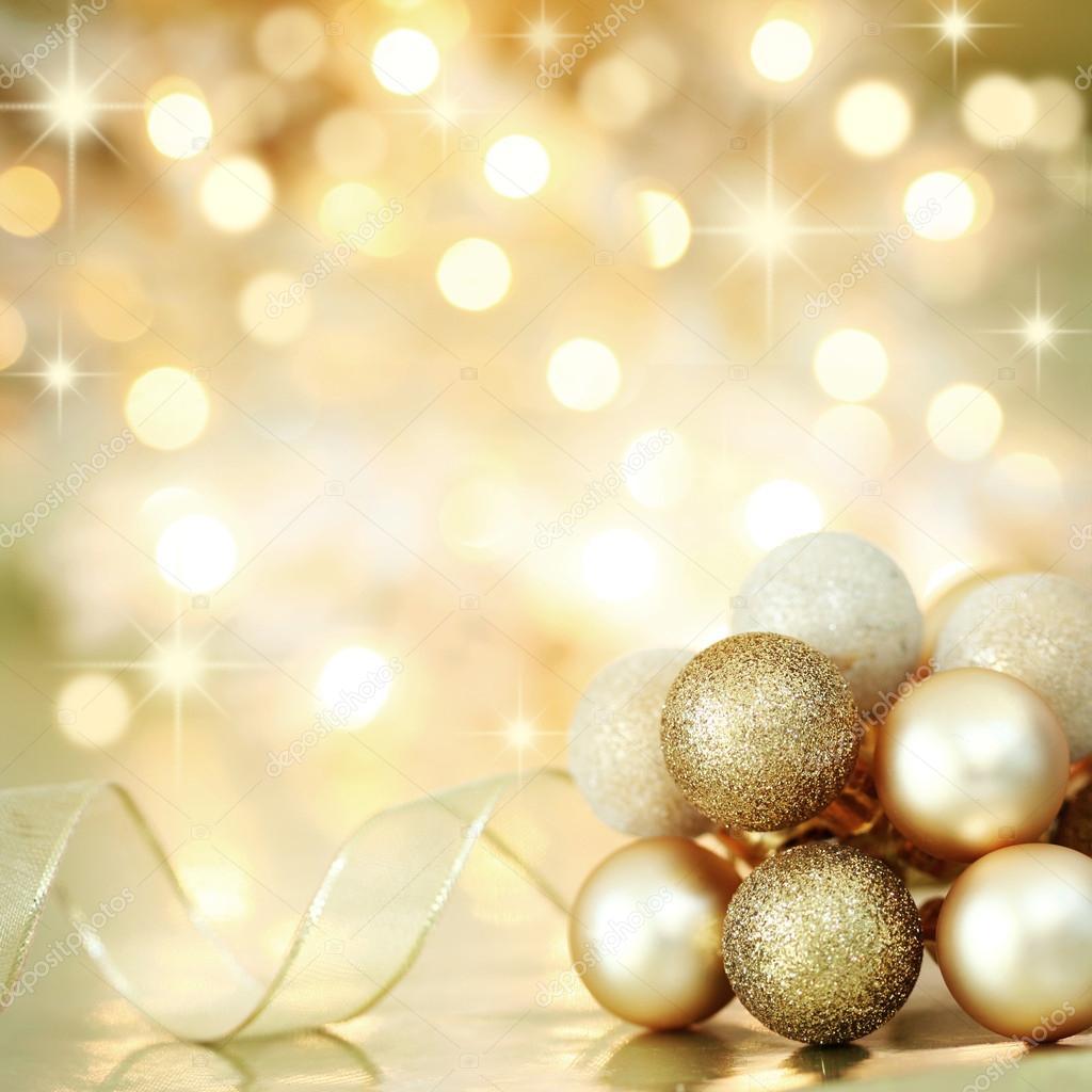 Christmas decoration on defocused lights background for Weihnachtskugeln vintage