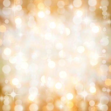 Sparkling golden Christmas party lights background