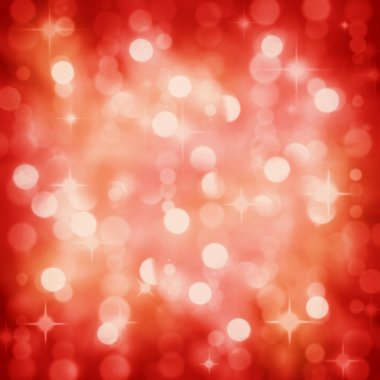 Sparkling red Christmas party lights background