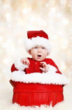 Happy Santa Christmas baby