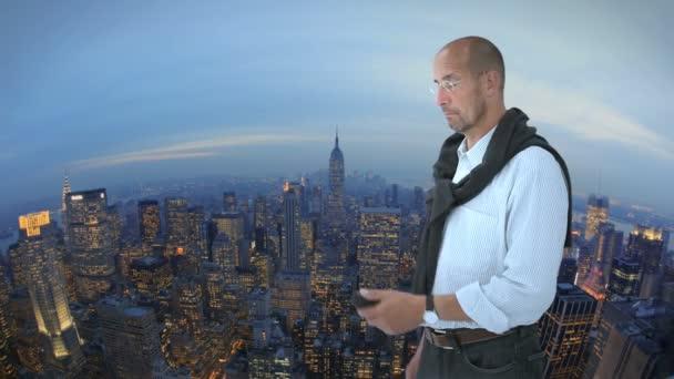 Muž před new york