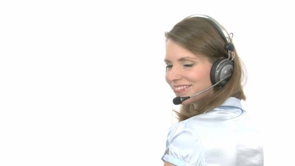 Callcenter Agent smiles
