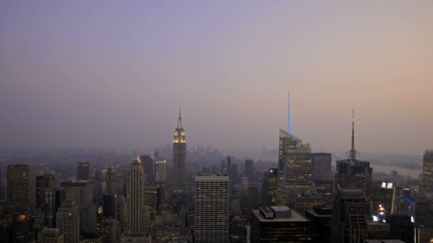 západ slunce new york city