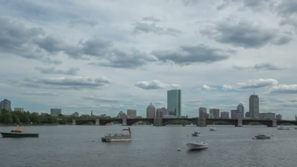 Boston Charles River Longfellow Bridge and Skyline