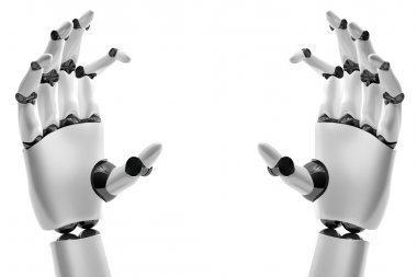 Robotic hand with brand place