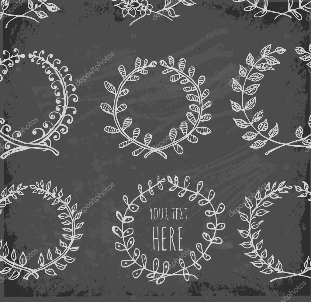 Kreis floral Grenzen — Stockvektor © Elinacious #35336229