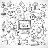 Photo Back to school big doodles set.